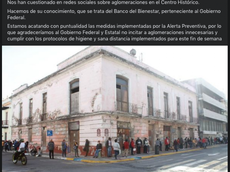 Alcalde porteño se deslinda de aglomeraciones en el Centro Histórico