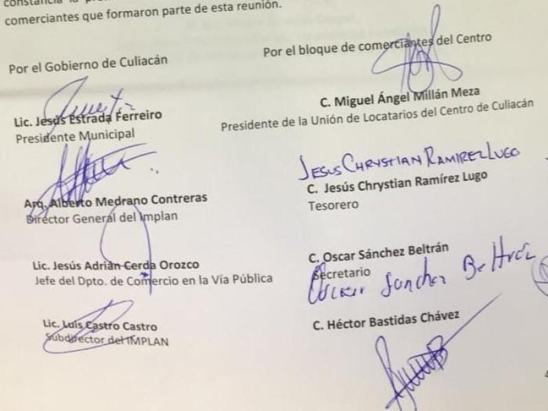 Alcalde y comerciantes firman acuerdo sobre situación del centro