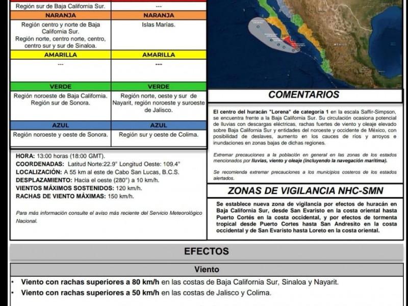 Alerta azul y verde para Sonora por
