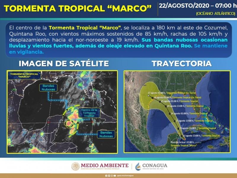 Alerta en Yucatán, se forma la tormenta tropical 'Marco'