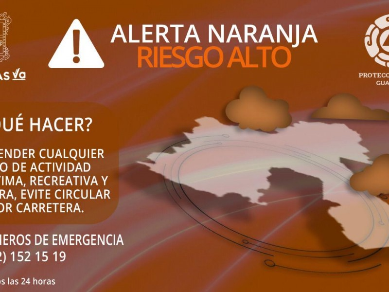 Alerta Naranja para Sonora por 'Lorena'