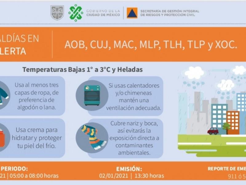 Alerta por bajas temperaturas en el Valle de México