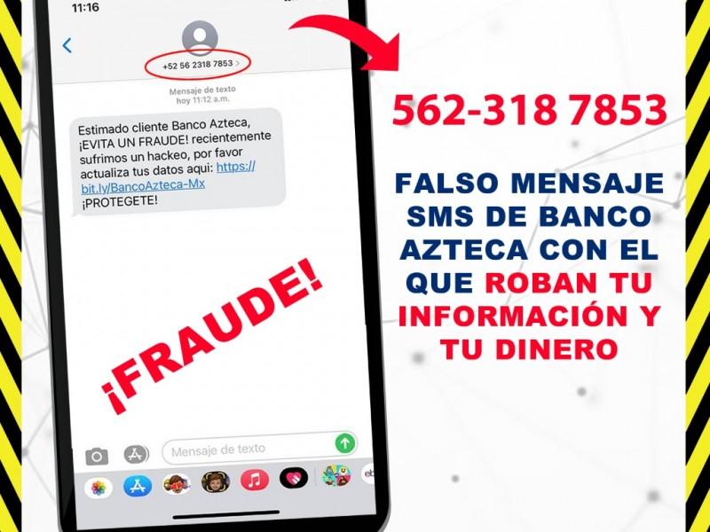 Alerta por fraudes a cuentahabientes de Banco Azteca