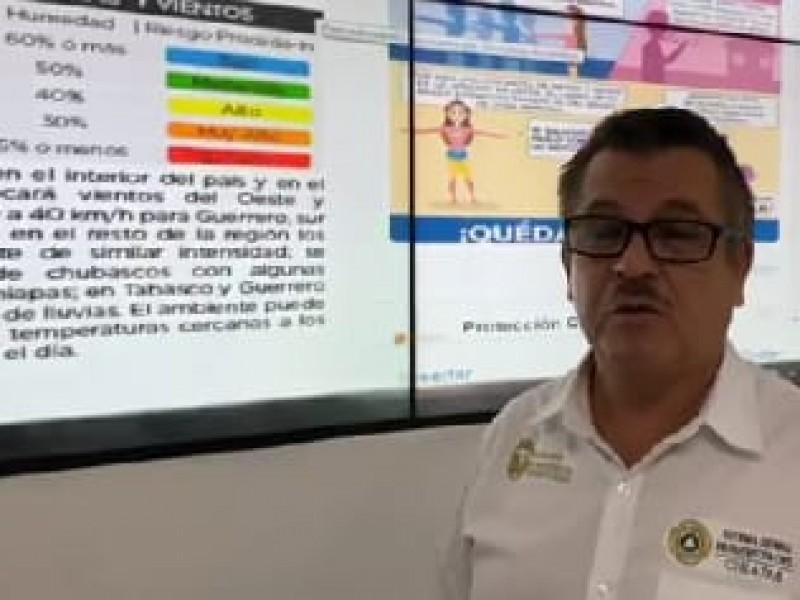 Alerta roja por altas temperaturas en Chiapas