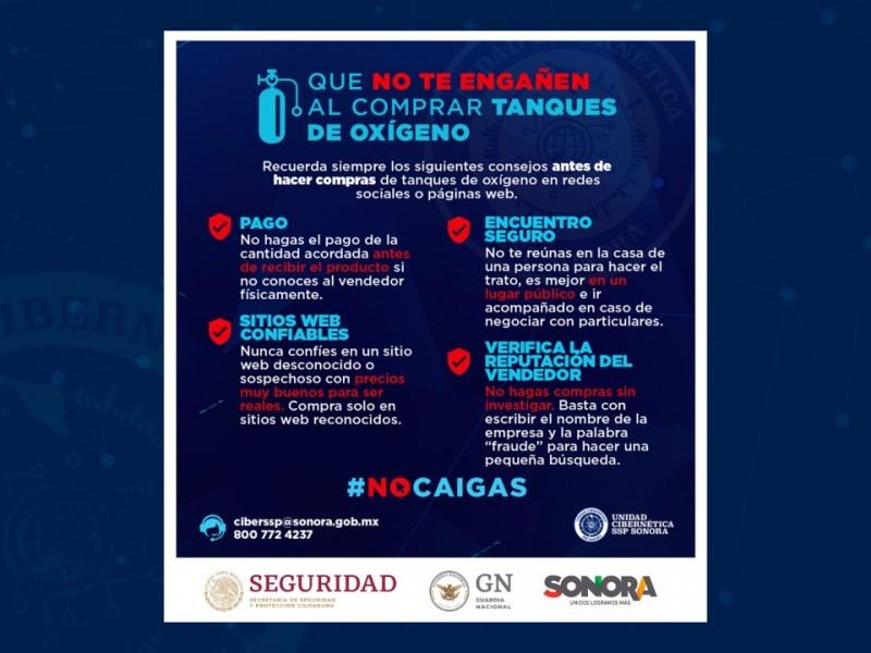 Alerta Unidad Cibernética en Sonora sobre posibles estafas en línea