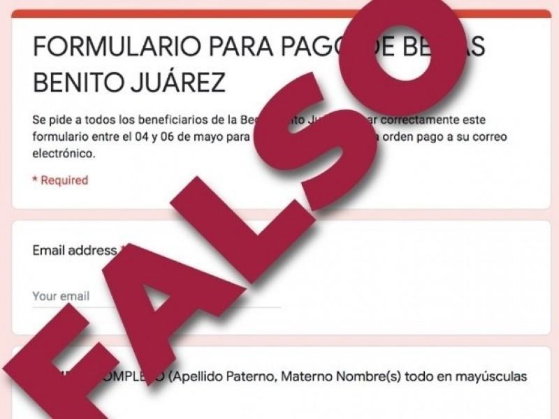 Alertan por fraude en becas Benito Juárez