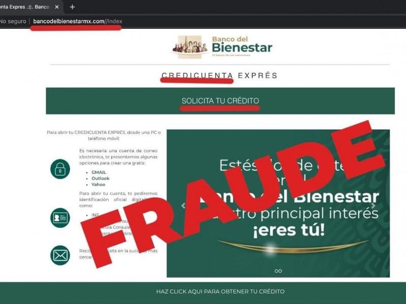 Alertan por fraude en créditos del Banco del Bienestar