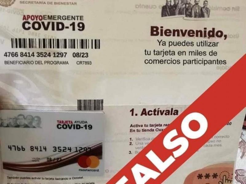 Alertan por presunto fraude con tarjetas falsas para apoyo alimentario