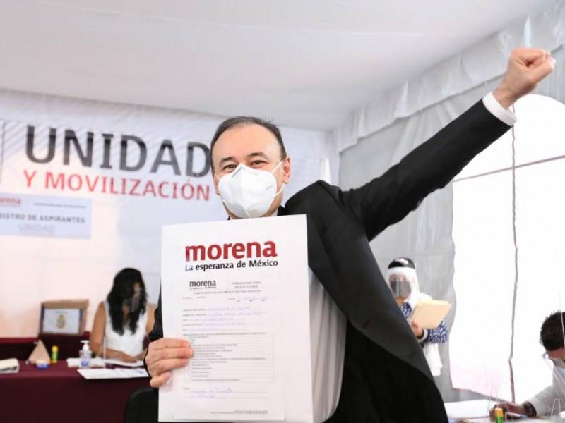 Alfonso Durazo se registra como precandidato al gobierno de Sonora