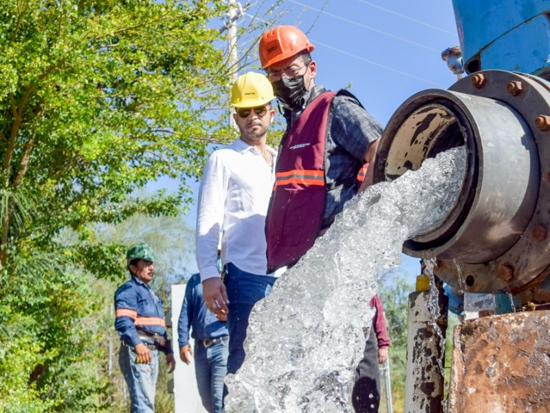 Algunas colonias ya tienen agua en Navojoa