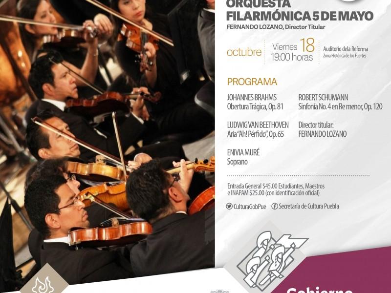 Alistan detalles del tercer concierto de la F5M