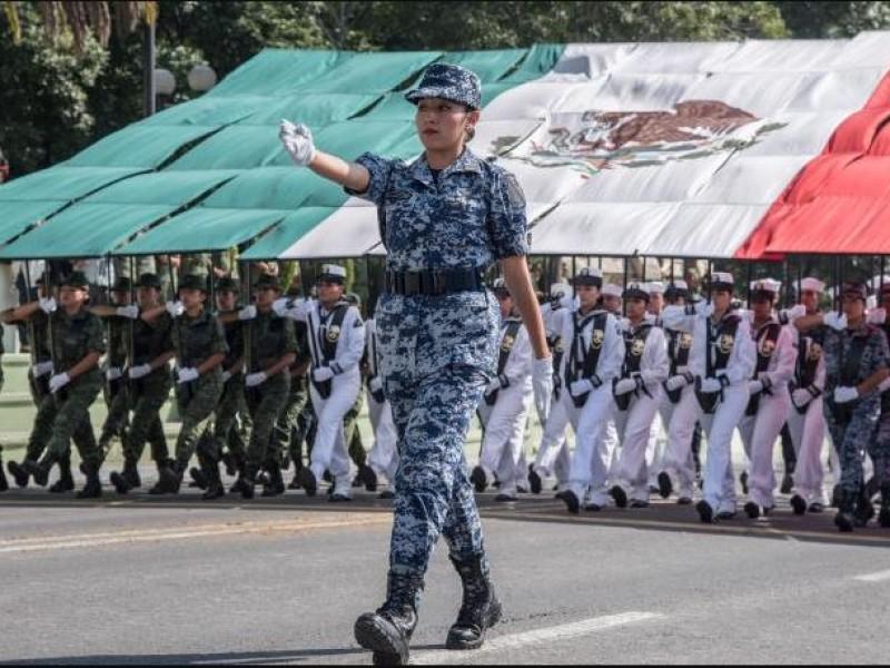 Alistan detalles para desfile militar del 16 de septiembre