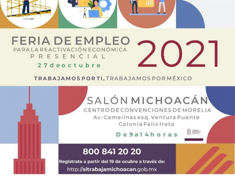 Alistan Feria Nacional del empleo para este miércoles en Morelia