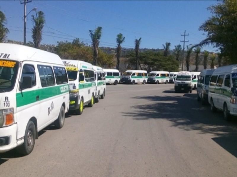 Alrededor de 10 mil transportistas en Chiapas sin empleo