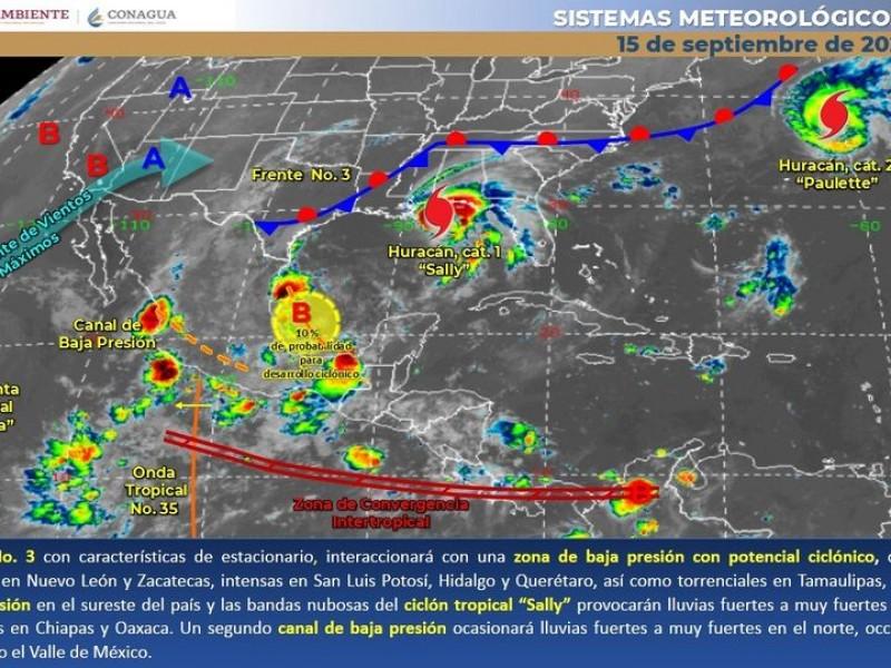 Altas temperaturas y lluvias dispersas en Sonora, pronóstico de hoy