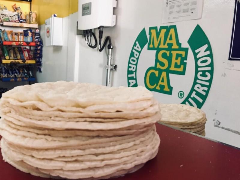 Altos costos de insumos encarece precio de la tortilla