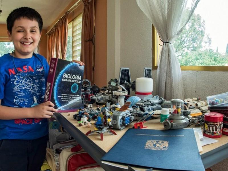 Alumno de 12 años cursará licenciatura en UNAM