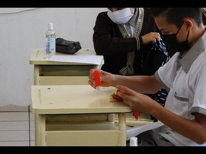 📹Alumnos aplican protocolo de sanidad en escuelas