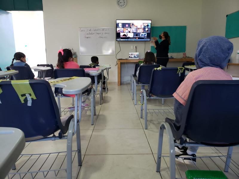 Alumnos de nivel básico regresen a clases presenciales en Zamora