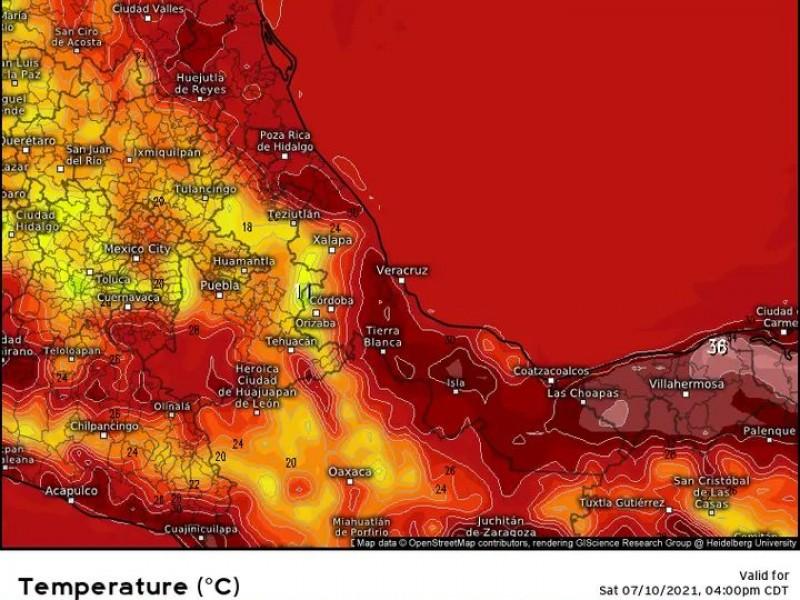 Ambiente caluroso para este fin de semana en Veracruz