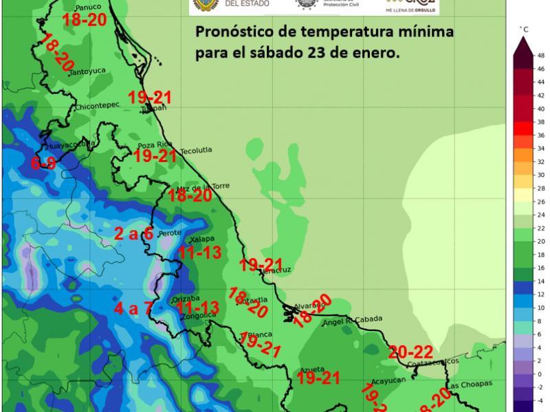 Ambiente fresco para la mañana de este sábado en Veracruz