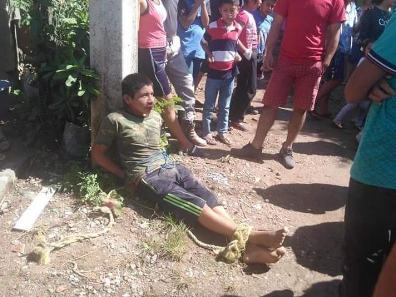 Amenazan con quemar vivo a presunto violador en Frontera Comalapa