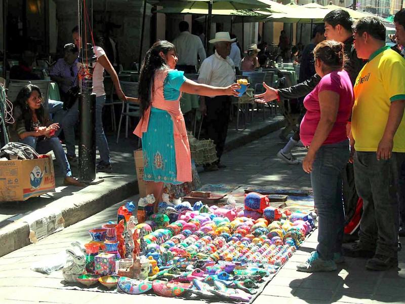 AMHyMO pide solución al bloqueo del comercio informal en Oaxaca
