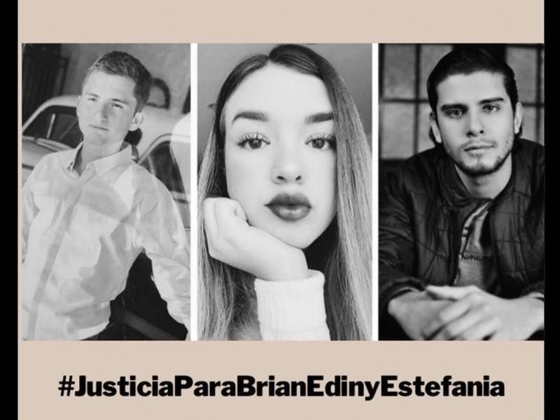 Amigos de Edín, Estefanía y Brian piden justicia tras detención