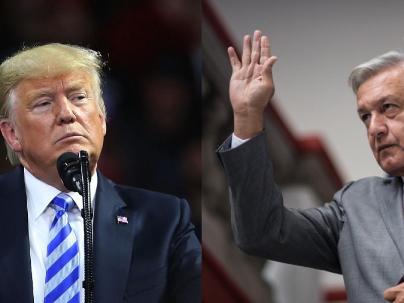 AMLO a Trump: todo por la razón