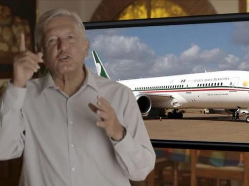 AMLO analiza rifar avión presidencial; boletos costarían $500