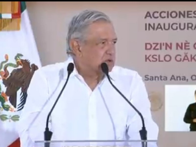 AMLO en Oaxaca inaugura caminos rurales