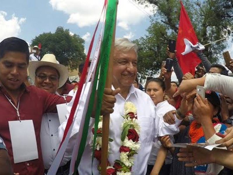 AMLO encabeza ritual para construcción del Tren Maya