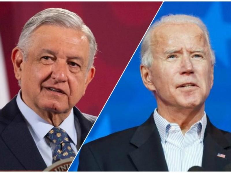 AMLO felicita a Joe Biden, le pide mantener relación bilateral