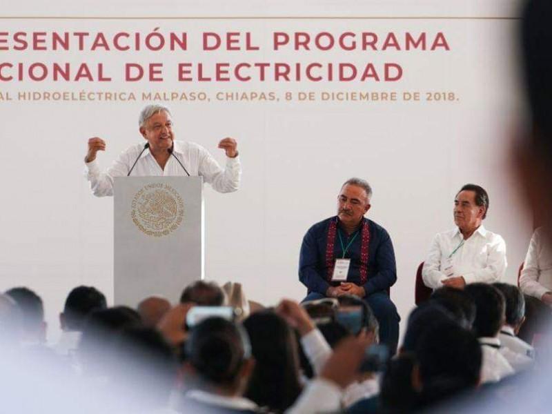 AMLO presenta Plan Nacional de Energía Eléctrica
