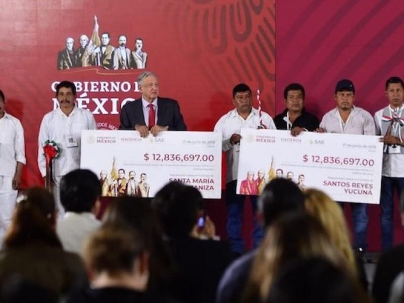 AMLO regresa más de 24 millones a Oaxaca