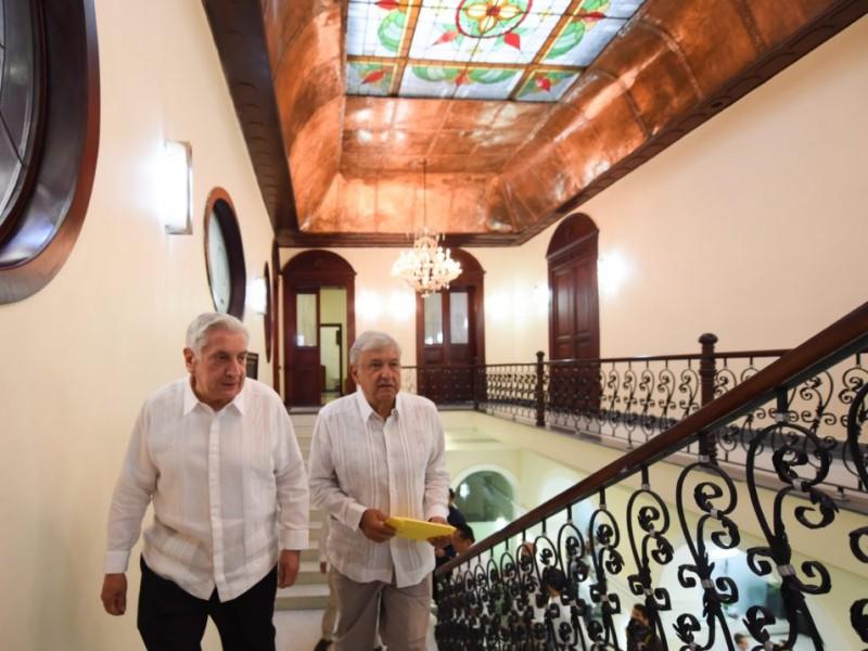 AMLO se reúne con el gobernador de Tabasco