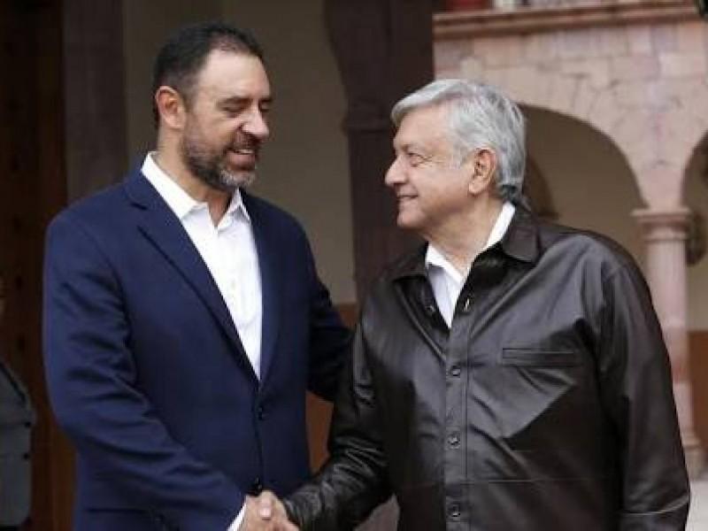 AMLO se reúne con gobernador de Zacatecas