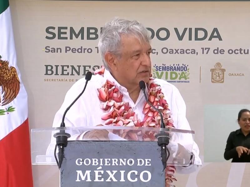 "AMLO supervisa avances del programa ""Sembrando Vida"" en Tapanatepec"
