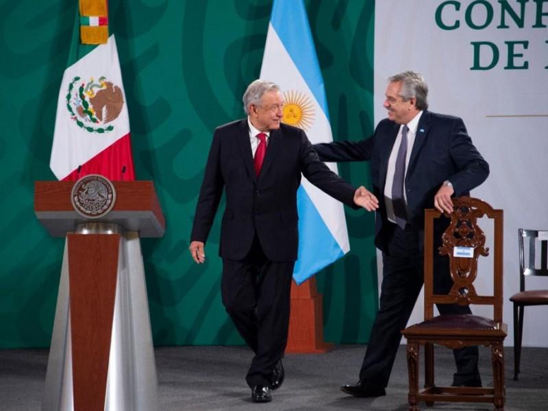 AMLO y Alberto Fernández dirigen mensaje conjunto desde Palacio Nacional