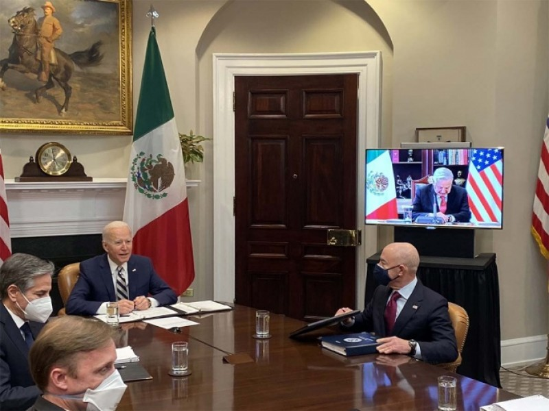 AMLO y Biden se reúnen de manera virtual