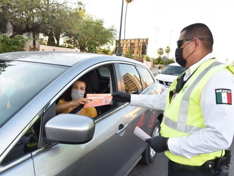 Amplían horario para que carros circulen en Hermosillo