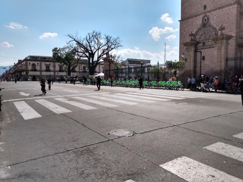 Ante Covid 19 suspenden ciclovía dominical de Morelia