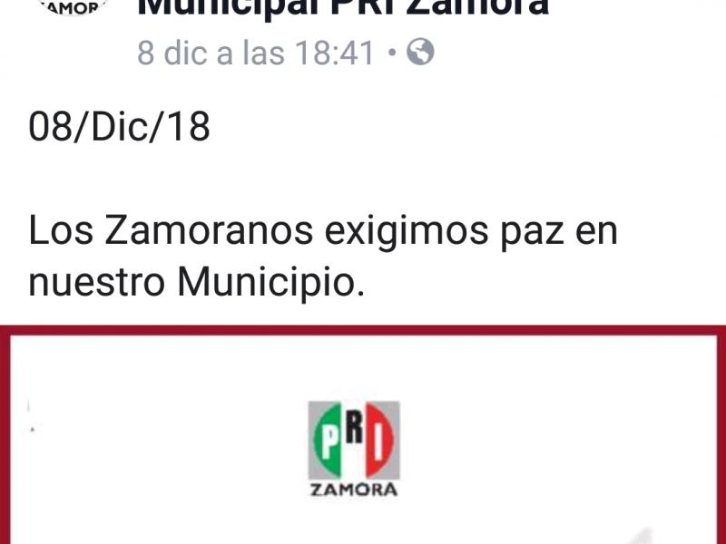 Ante hechos violentos, ciudadanos exigen paz en Zamora