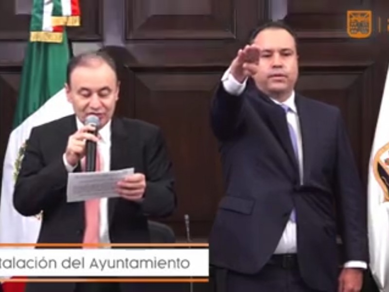 Antonio Astiazarán rinde protesta como alcalde de Hermosillo