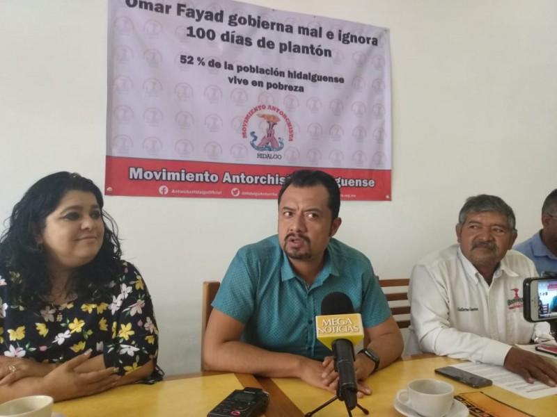 Antorcha Campesina exige respuesta de gobierno hidalguense