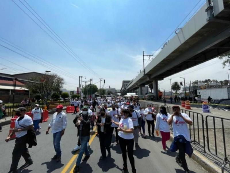 Antorchistas exigen justicia para víctimas de la línea 12