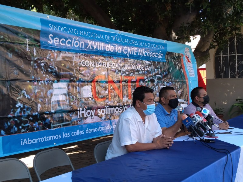 Anuncia CNTE caravana hacia CDMX para exigir plazas