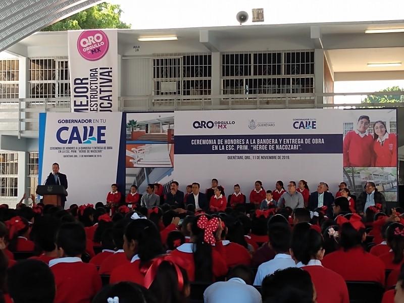 Anuncia Gobernador programa de apoyo a escuelas