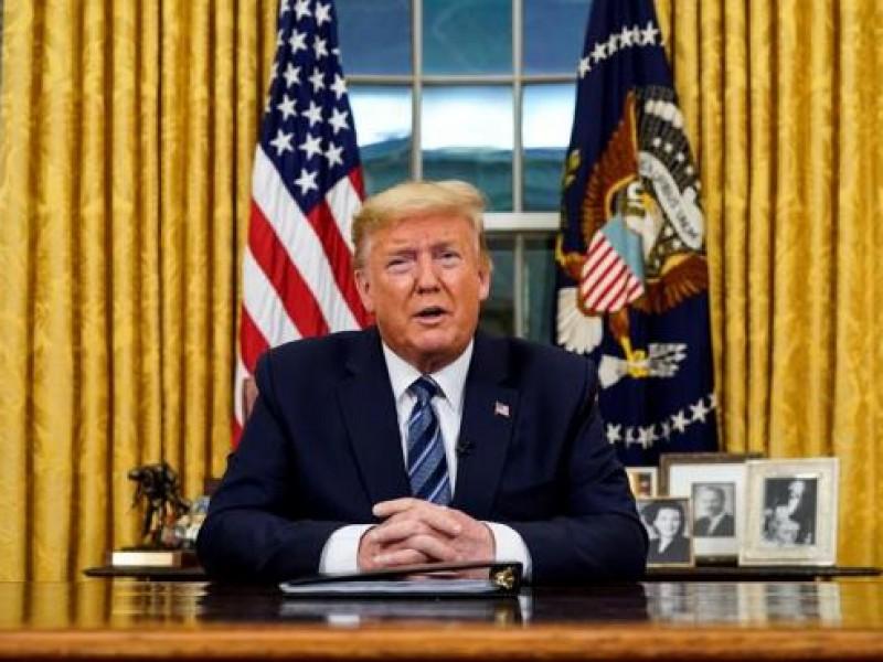 Anuncia Trump nuevas medidas de restricción por covid-19