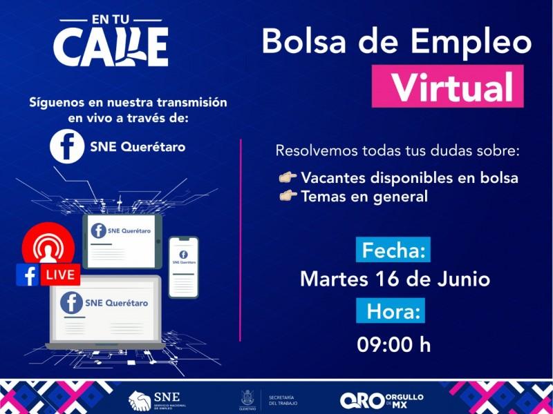 Anuncian bolsa de Empleo Virtual en Querétaro